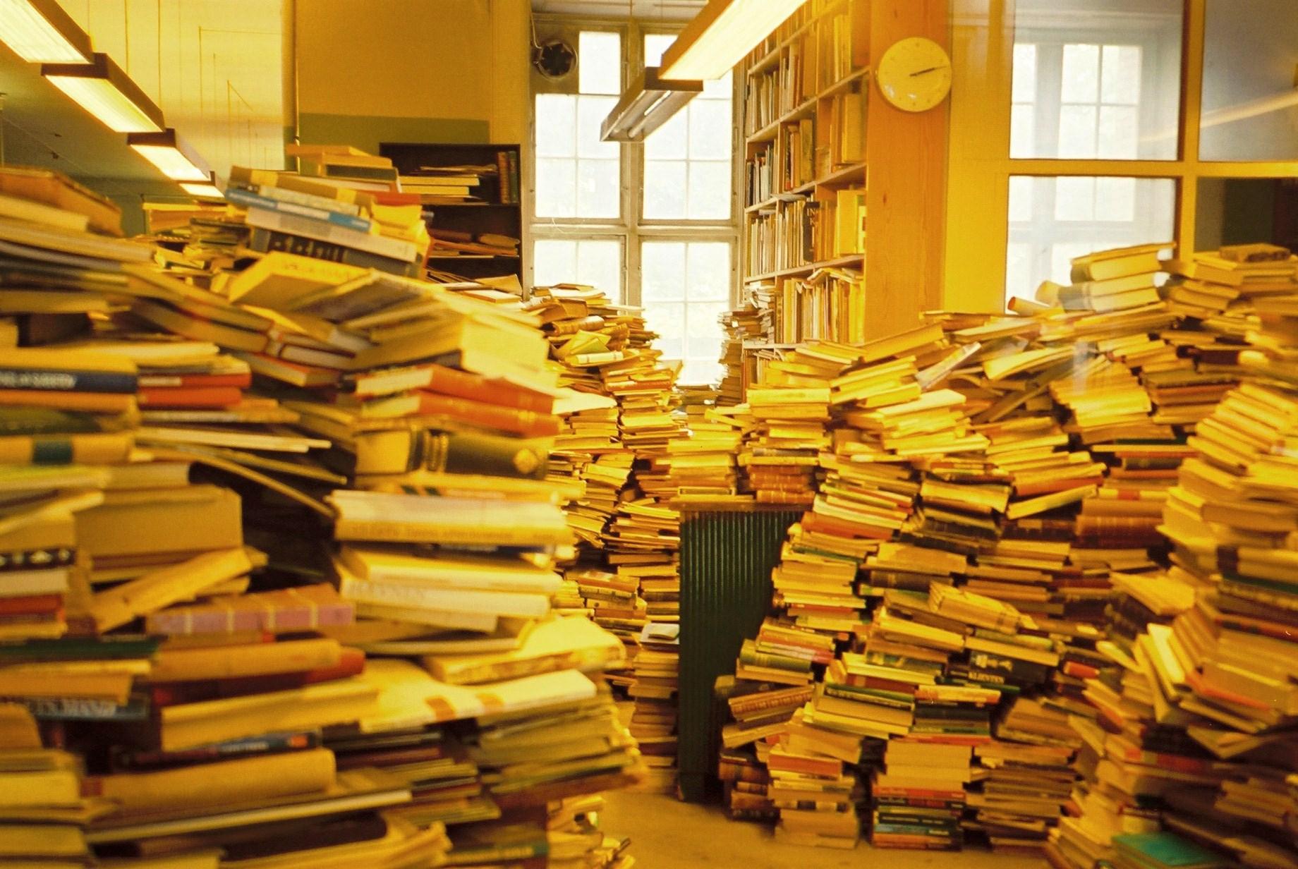 本、学校、図書館